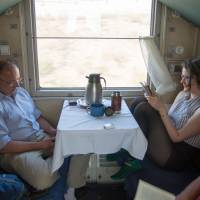 Taking one of the world's longest train rides