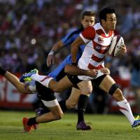 Japan throttles Uruguay in final home match before Rugby World Cup