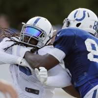 Colts embrace hitting portion of training camp