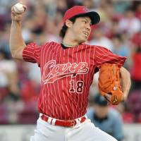 Maeda, Eldred lift Carp in shutout of Tigers