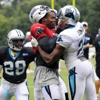 Panthers QB Newton doesn't regret role in scuffle at camp