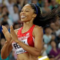 Felix triumphs in women's 400 for ninth career gold at worlds