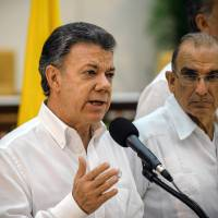 Colombia's president, rebels announce breakthrough in talks