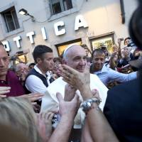 Pope would like to pop out for pizza but just going for glasses poses media spectacle