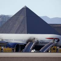 Hunt on for cause of jetliner engine fire in Las Vegas; pilot calls it a career