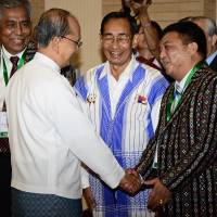Myanmar president Thein Sein meets armed rebels for peace talks