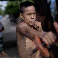 For some Myanmar martial artists, the street is their gym