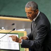 Obama addresses U.N. summit on poverty as Syria war, Russia buildup, draw attention