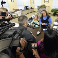 Kentucky clerk cites 'God's authority' in defying court order to issue same-sex marriage certificates