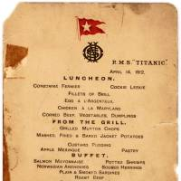 Online auction looks to fetch $70,000 for last Titanic luncheon menu