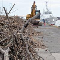 Floodwaters send branches, garbage downstream, wreaking havoc with Choshi port