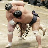 Terunofuji exhibits poise