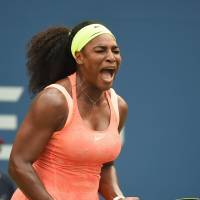 Serena shakes off nerves to top Bertens at U.S. Open