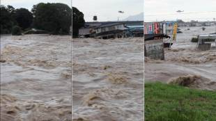 [VIDEO] Flood waters at Kinugawa River, Ibaraki Pref., Sept. 10, 2015