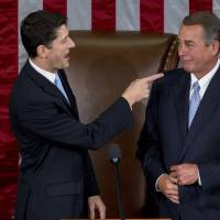 Splintered Republican ranks manage to elect Ryan as House speaker