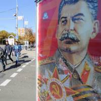 Stalin portraits and Soviet nostalgia rule in Ukraine's rebel regions