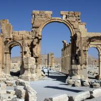 Islamic State group destroys treasured symbol of Roman Palmyra in Syria