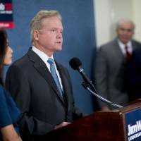 Slamming money politics and out-of-touch parties, Webb exits Democratic campaign