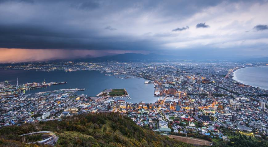 Hakodate Japan  City pictures : Hakodate, seen here from Hakodate Mountain, was ranked Japan's most ...
