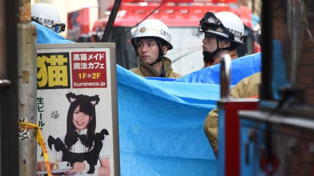 Hiroshima maid cafe defied fire-drill orders; fire casualties found in windowless room