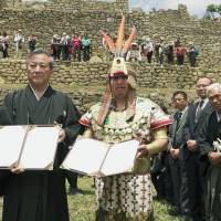 Machu Picchu inks friendship pact with Fukushima village of Otama