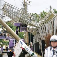 Powerful winds whip Japan, causing injuries, transport chaos