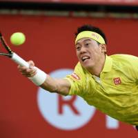 Nishikori overcomes Querrey for place in quarterfinals