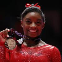 Biles captures all-around title again