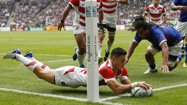 Japan preserves quarterfinal dream with 26-5 win over Samoa