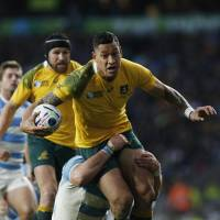 Australia beats Argentina to set up Rugby World Cup final clash with All Blacks