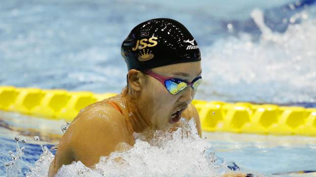 Kaneto outduels Watanabe in women's 200-meter breaststroke