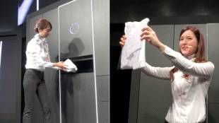 "[VIDEO] A demonstration of ""Laundroid,"" the world's first automated laundry-folding robot"