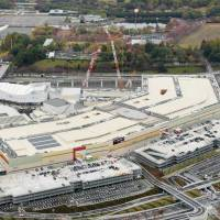 Shopping complex opens doors at expo site in Osaka