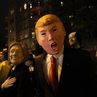 Trump, Hillary, bacon as Big Apple put on its Halloween face