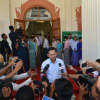 Myanmar's army chief makes overture to Suu Kyi party after poll