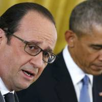 Hollande, Obama stand united against Islamic State but rule out ground intervention