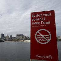 Bottoms up! Sewage diverted into Canada river used for drinking water