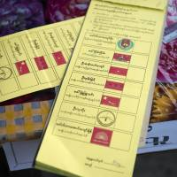 Voting proceeds smoothly in Myanmar's first free election for 25 years