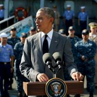 Obama touts maritime security ties in visit to Philippines