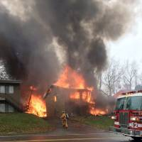 Up to nine feared killed when small jet slams into Ohio apartment