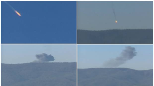 Turkey downs Russian warplane near Syria border; Moscow denies airspace violation