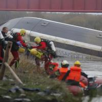 10 killed as French TGV train jumps during test run; 'excessive speed' blamed