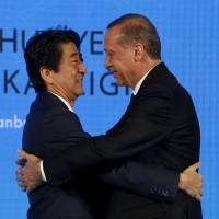 Abe, Erdogan agree to cooperate on refugees, fighting terrorism