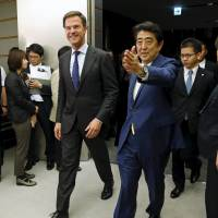 Japan, Netherlands share concern about tensions in East and South China seas