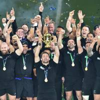 All Blacks bag historic third World Cup in overwhelming win over Wallabies