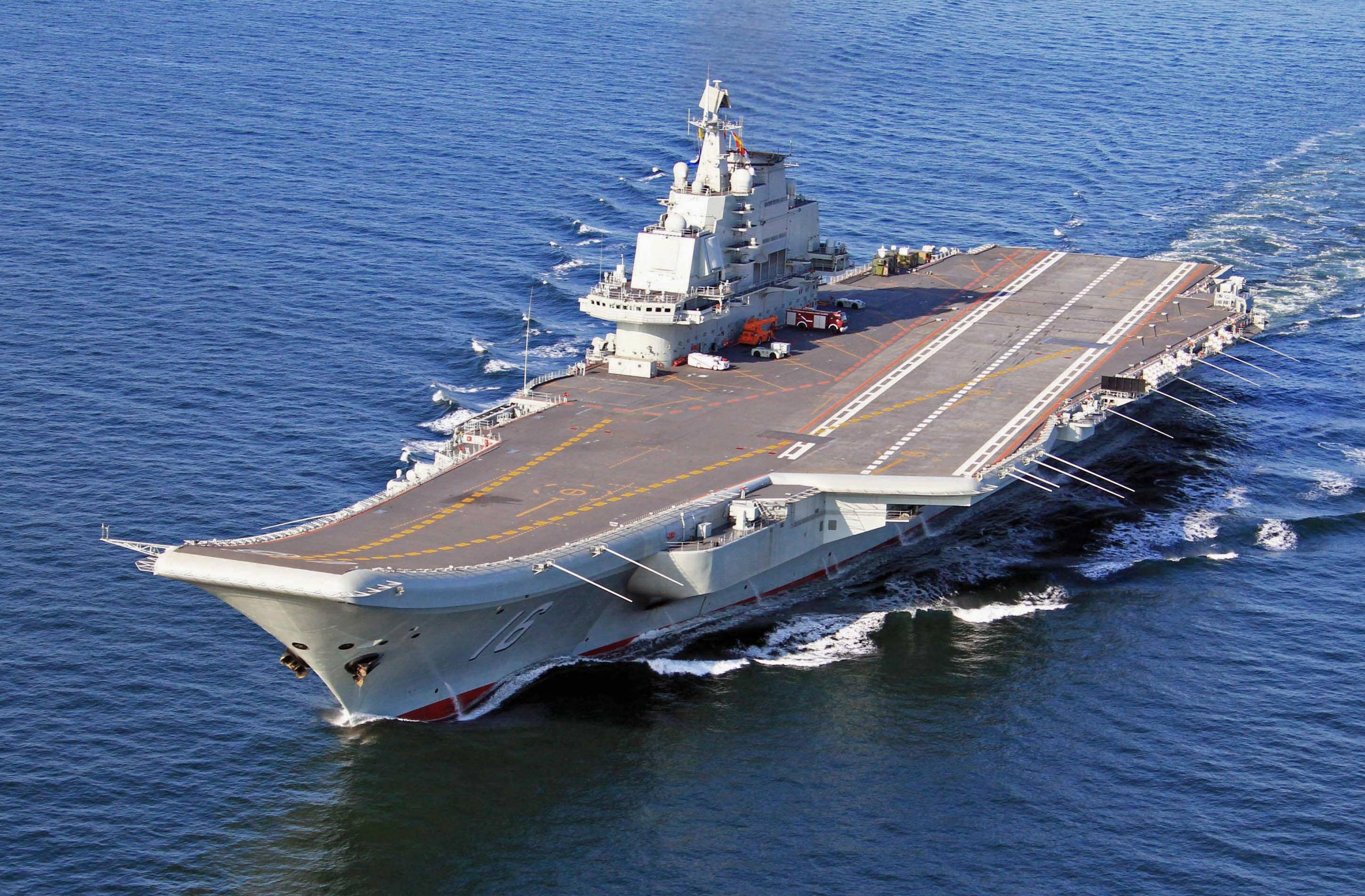 In First U S Defense Chief Visits Sole Chinese Carrier