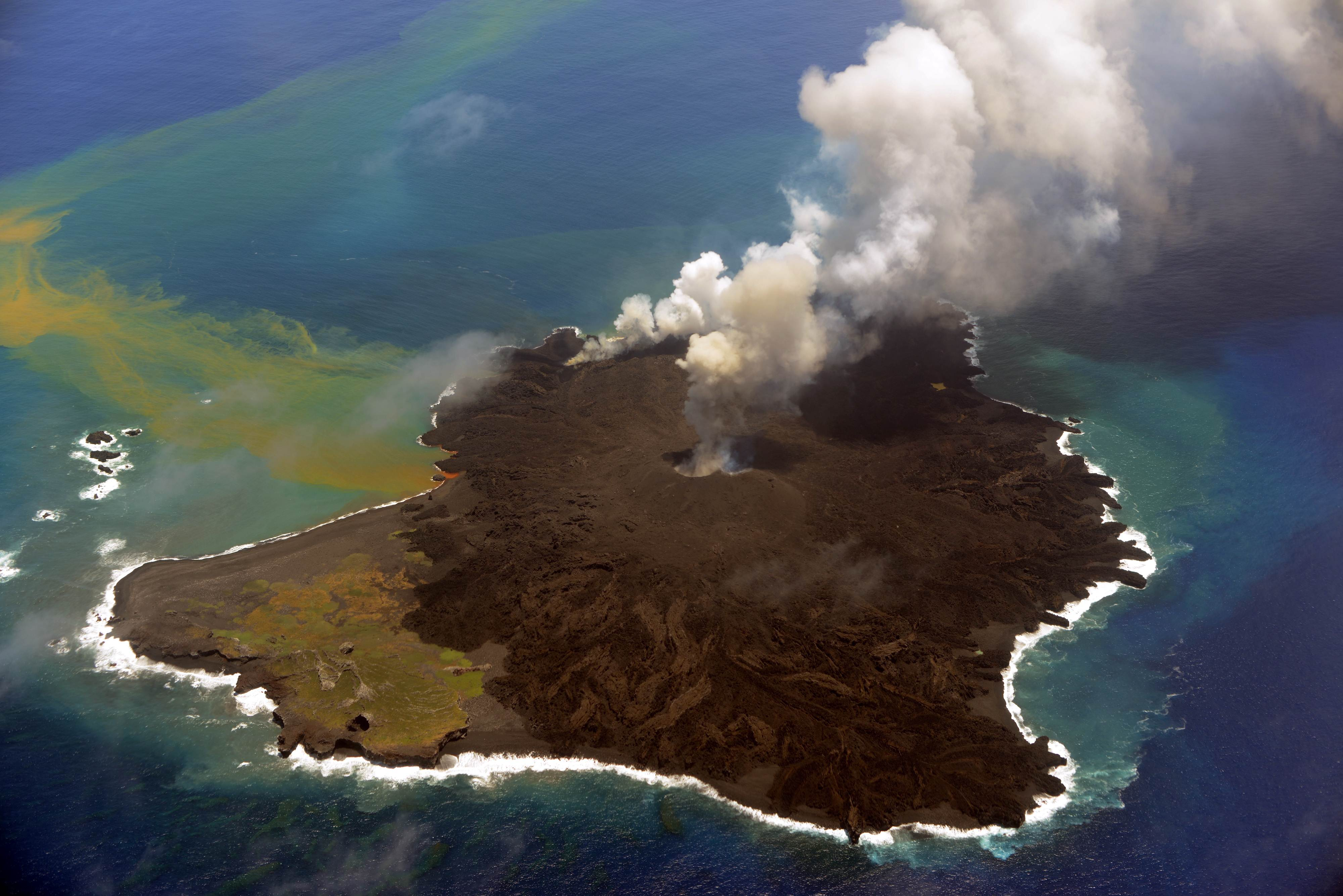Volcanic Nishinoshima still smoking, growing | The Japan Times