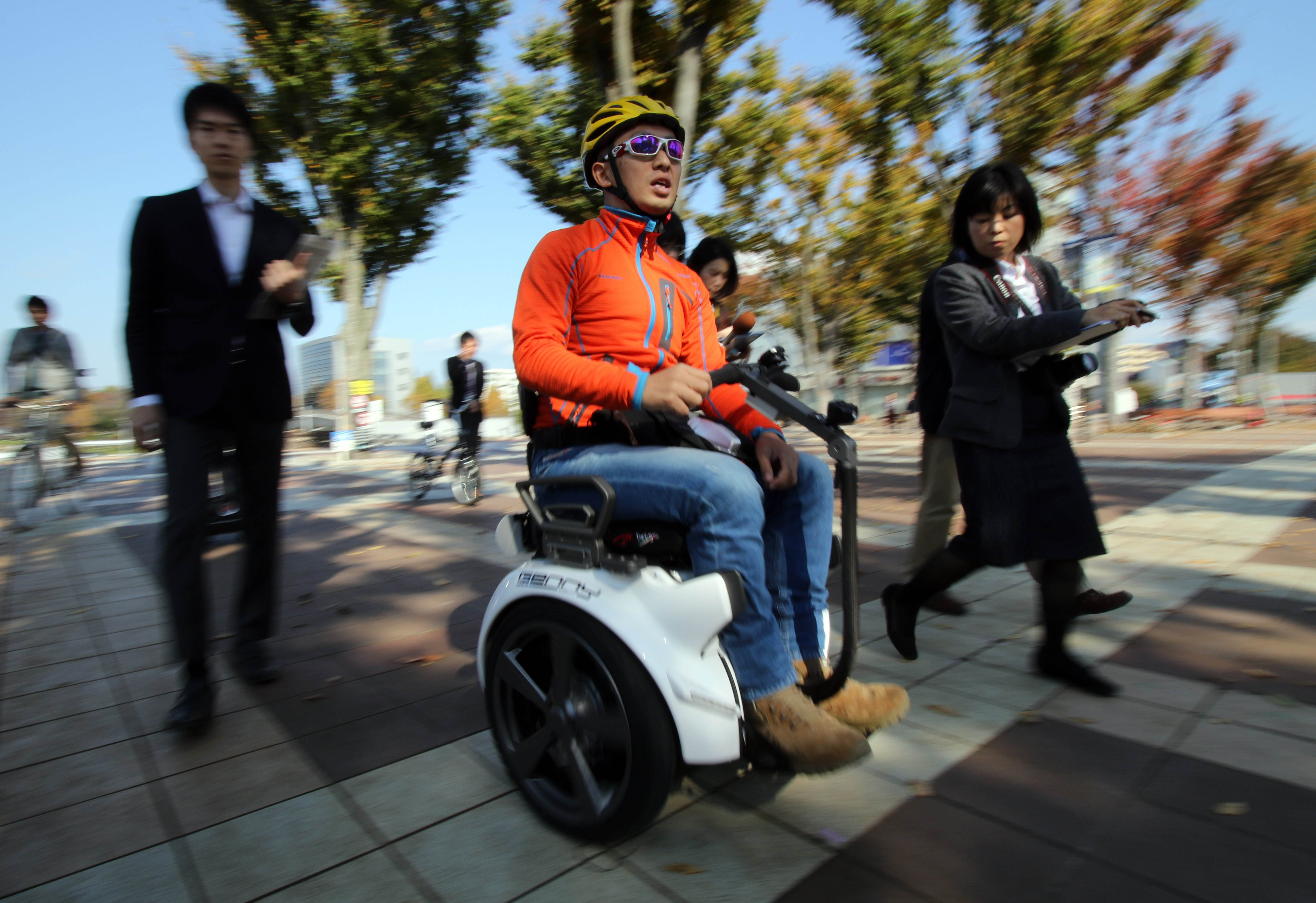 Segway Wheelchair Begins Trials On Japanese Streets The