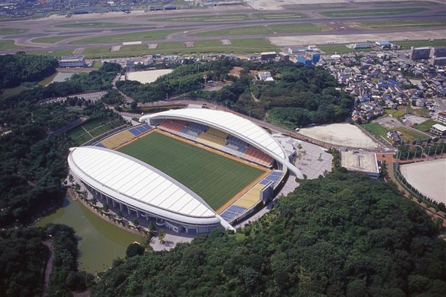 Higashihirao Park Hakatanomori Stadium (Level Five Stadium) Capacity: 22,563 Address: 2-1-1 Higashi Hiraokoen, Hakata-ku, Fukuoka-shi, Fukuoka Pref. Notes: home of Avispa Fukuoka (J. League second division)