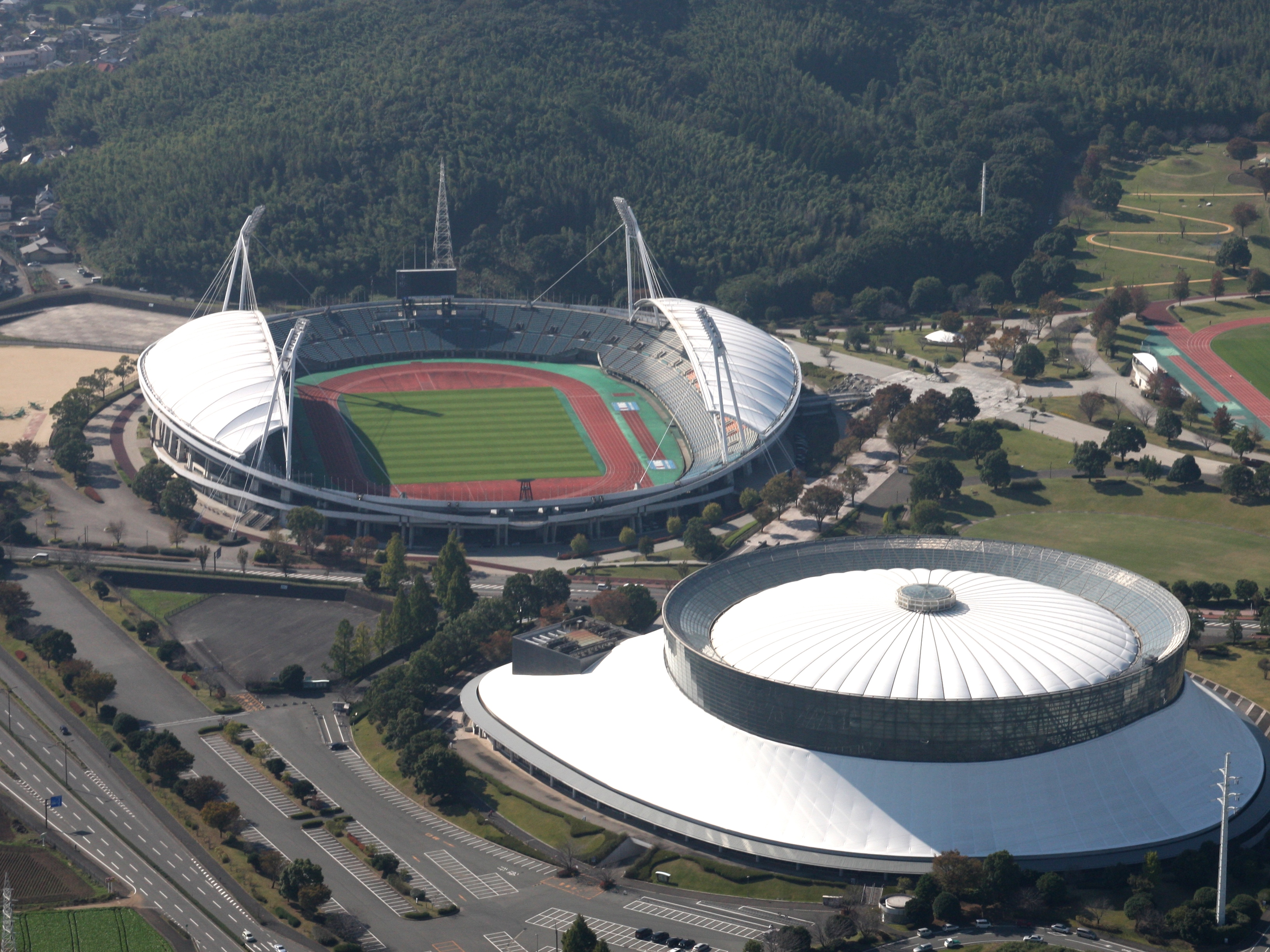 Kumamoto Prefectural Sports Park Track And Field Stadium Umakana Yokana Capacity 32000